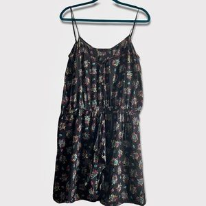 Primrose Black & Floral Mini Dress